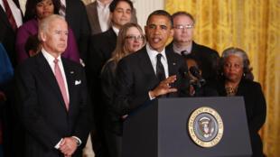 Tổng thống Mỹ  Barack Obama phát biểu trên vấn đề ngân sách (REUTERS)
