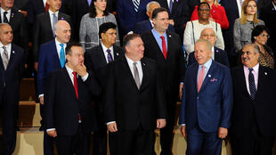Ngoại trưởng Mỹ M. Pompeo và các đồng nhiệm tại hội nghị thành lập Liên Minh Tự Do Tôn Giáo. Ảnh chụp ngày 18/07/2019.