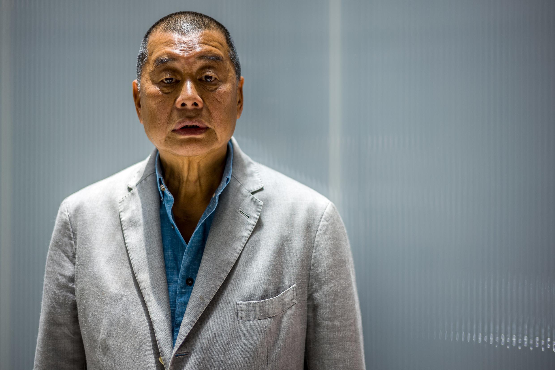Jimmy Lai, durante uma entrevista com a  AFP  em 16 e Junho  de 2020