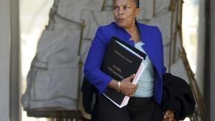 A ministra da Justiça, Christiane Taubira.