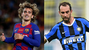 Antoine Griezmann (FC Barcelone) et Diego Godin (Inter Milan).