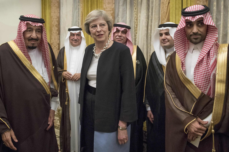 ترزا می و ملک سلمان، پادشاه عربستان سعودی