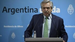 President Alberto Fernandez of Argentina, which faces defaulting on its debts