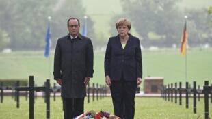 29.05.2016 Франсуа Олланд и Ангела Меркель вспоминают жертв битвы при Вердене
