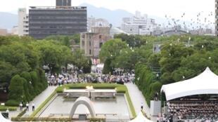 La ville d'Hiroshima a commémoré le 74e anniversaire du premier bombardement atomique de l'histoire, le 6 août 2019.