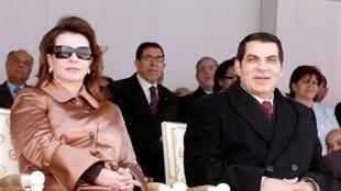 Zine El-Abidine Ben Ali et son épouse Leila, en mars 2006.