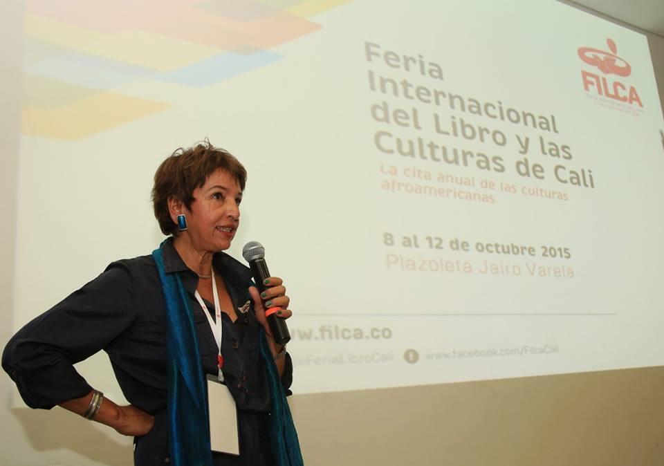 La directora de la FILCA Conchita Penilla, durante la rueda de prensa de presentación del evento.