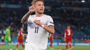 Football - Italie -Ciro Immobile -  2021-06-11T202739Z_1090086700_UP1EH6B1KU115_RTRMADP_3_SOCCER-EURO-TUR-ITA-REPORT
