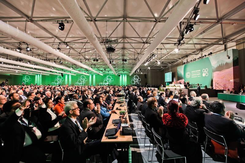 Conferência das Nações Unidas sobre Mudanças Climáticas em Varsóvia, na Polônia.