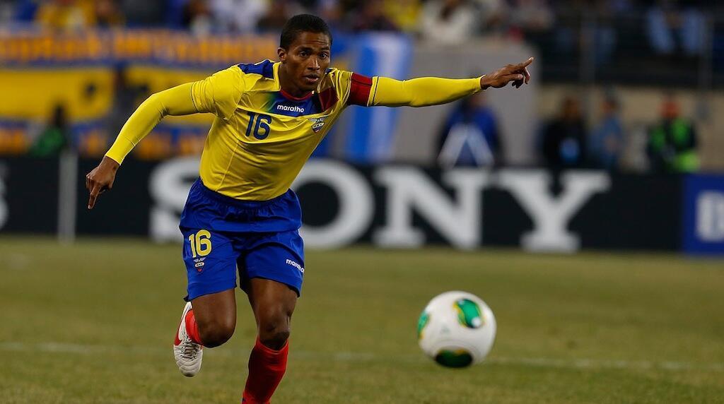 Kiungo mshambuliaji wa timu ya taufa ya Ecuador, Antonio Valencia