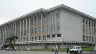 Le siège du Parlement congolais à Kinshasa en RDC.