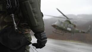 Учения НАТО в Косово.