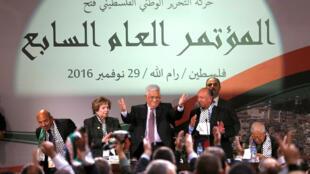 Mahmoud Abbas à Ramallah le 30 novembre 2016.