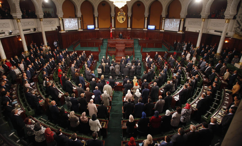 Vue d'ensemble de l'Assemblée tunisienne en session le 2 décembre 2014 à Tunis.