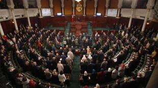 Vue d'ensemble de l'Assemblée tunisien en session le 2 décembre 2014 à Tunis.