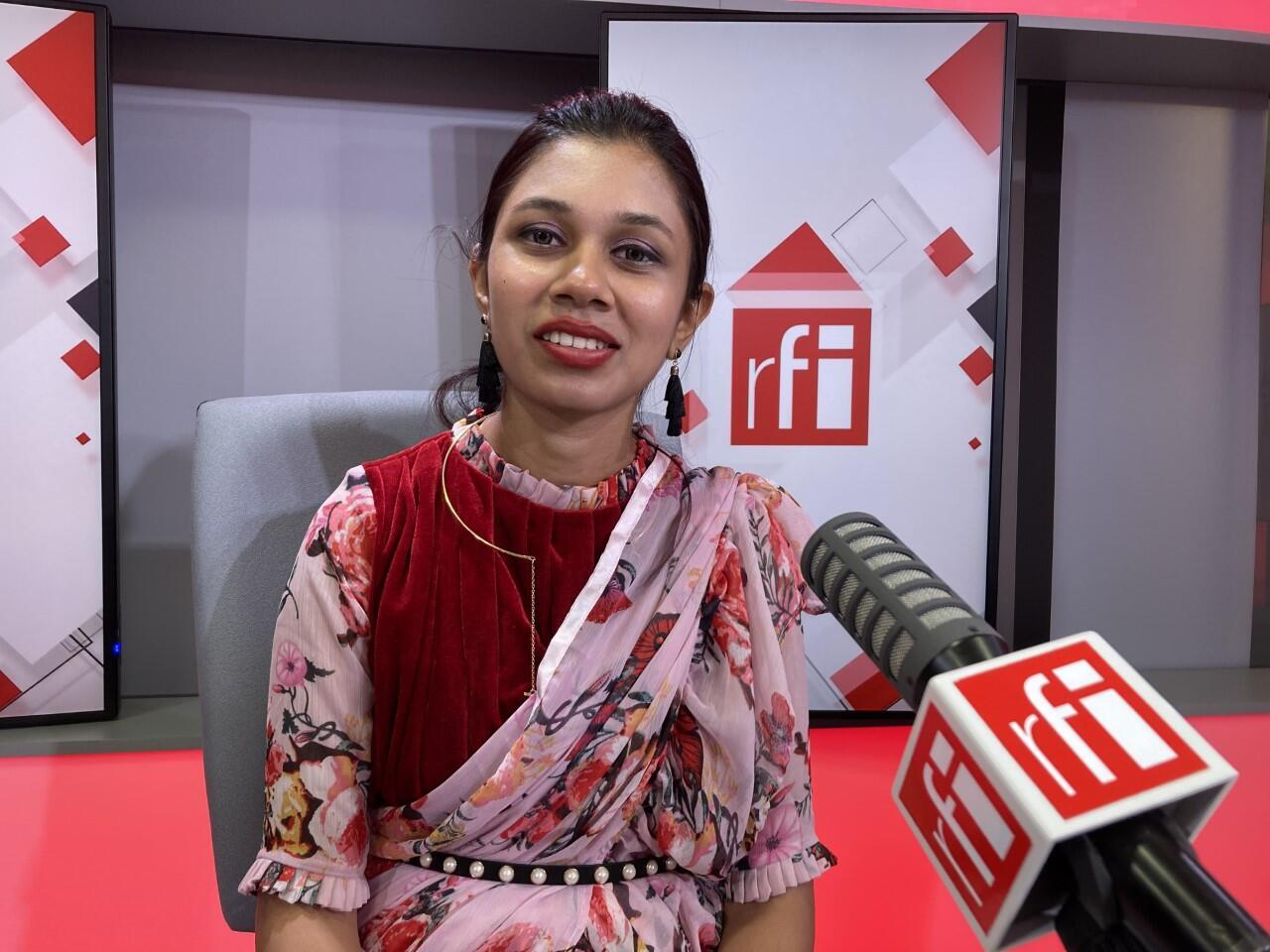 Adita Prithika Subramanian_president of the RFI listeners' club Agnichiragu Phoenix_Tirupur_Tamil Nadu_India_Sept 2021