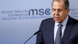 Глава МИД России Сергей Лавров на конференции по вопросам безопасности в Мюнхене, 18 февраля 2017 г.