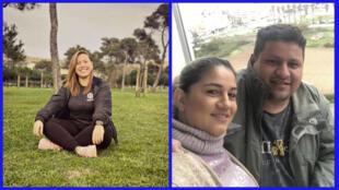 Suelayne, personal trainer ,a amazonense Sidmara Costa e o marido, Manoel Souza