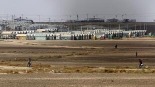 Le camp de réfugiés d'Azraq au nord de la Jordanie.
