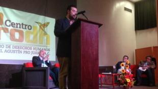 """Mario Patrón Sánchez, director del Centro de Derechos Humanos """"Miguel Agustín Pro Juárez"""", de Ciudad de México."""