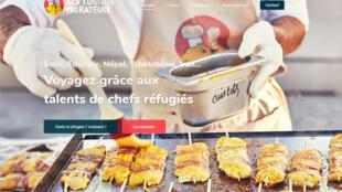 Capture d'écran de la page de garde du site web des Cuistots Migrateurs.