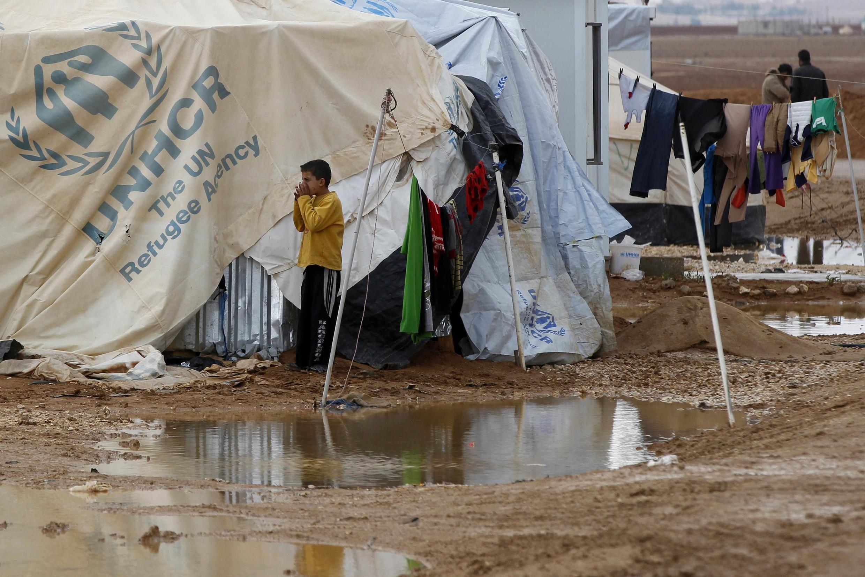 Dans le camp de réfugiés de Al-Zaatari, au nord de la Jordanie, le 12 décembre 2013.