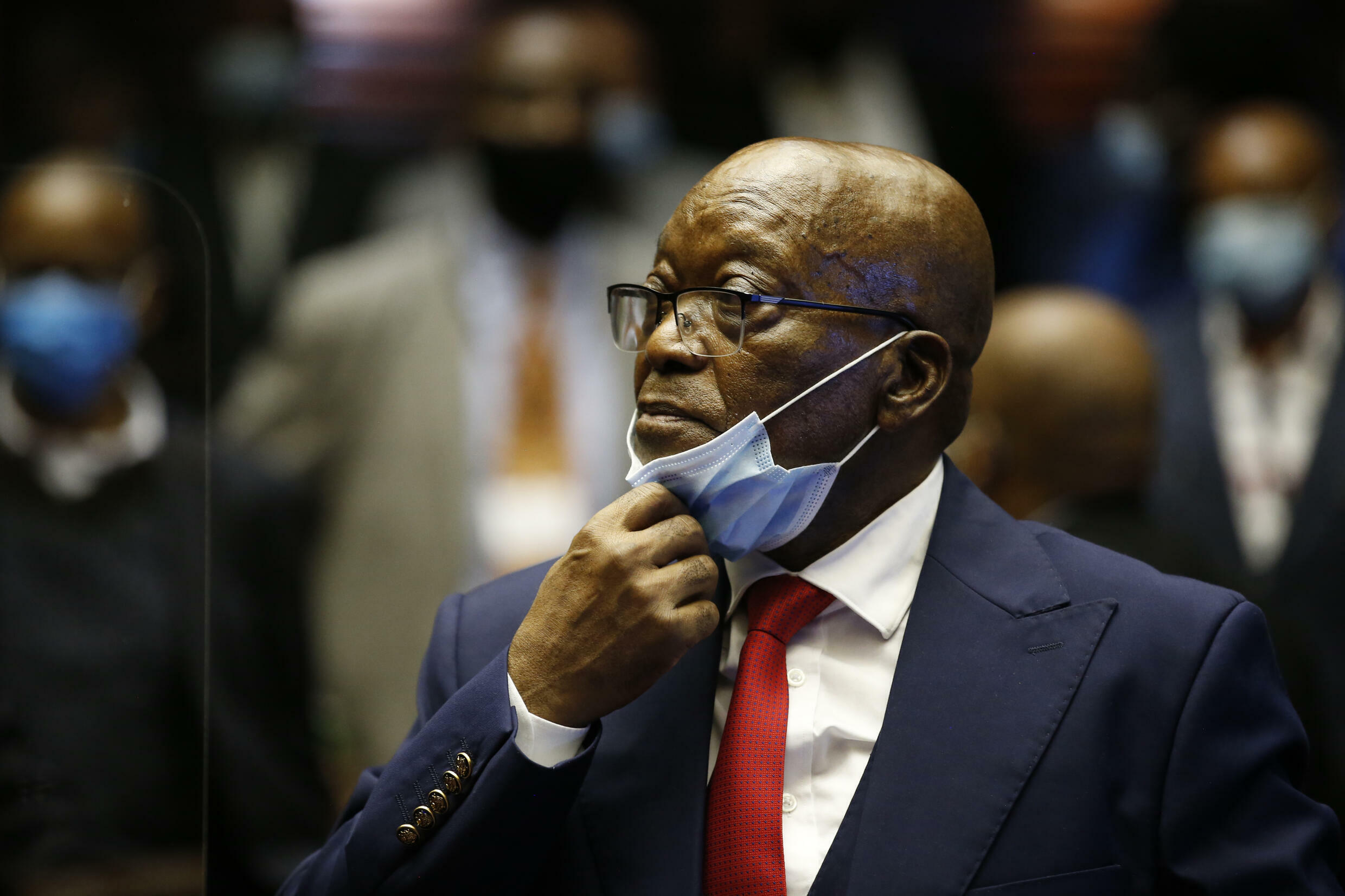 Former South Africa president Jacob Zuma in court in Pietermaritzburg, 26 May, 2021