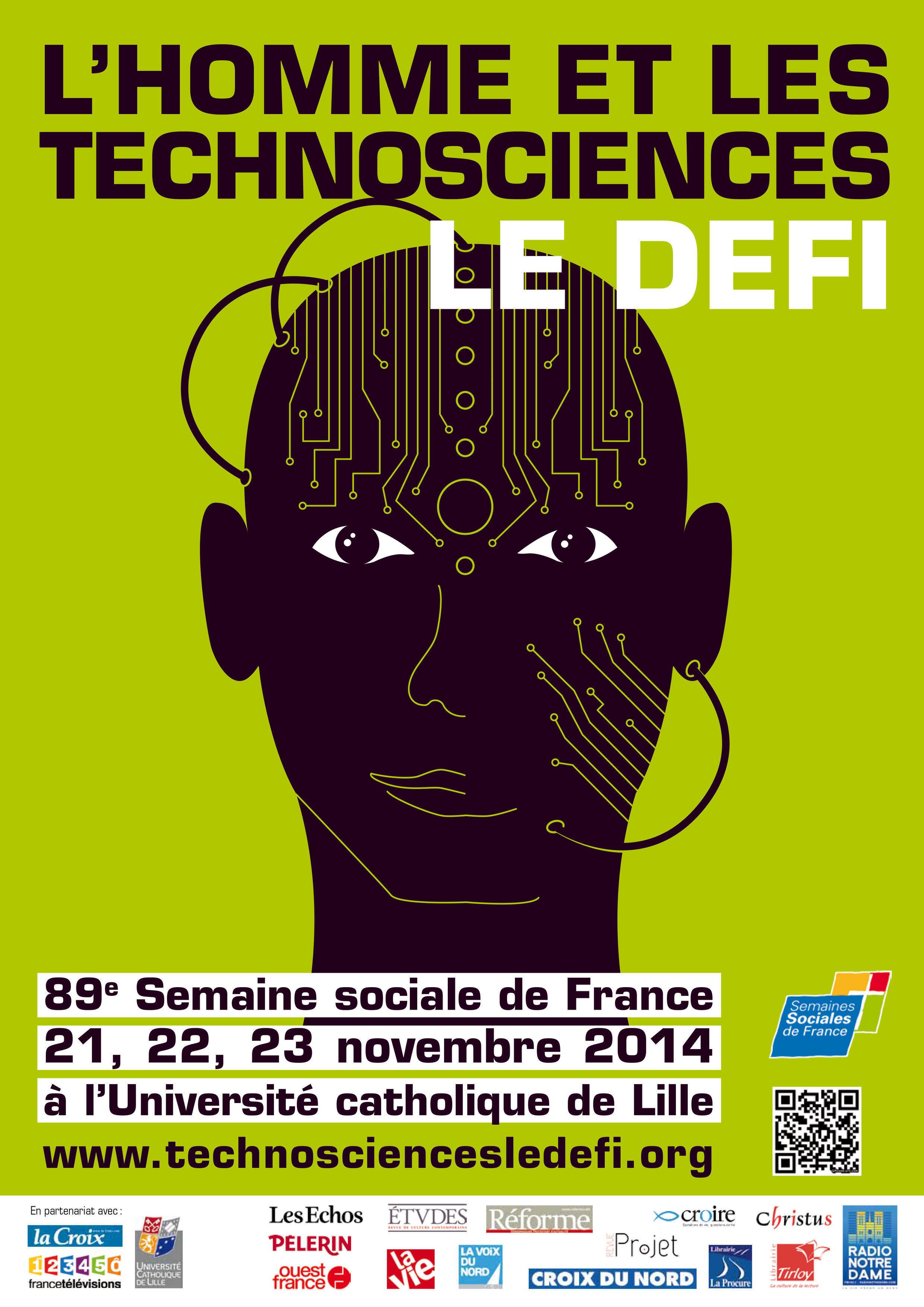 Affiche des Semaines Sociales de France 2014.
