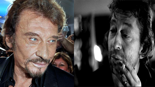 Johnny Hallyday and Serge Gainsbourg