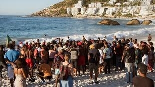 Anti-racist protestors take part in a demonstration on Clifton beach on 28 December, 2018, Cape Town, South Africa