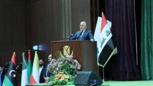 Le Premier ministre irakien al-Abadi a annoncé la victoire sur le groupe EI lors d'une conférence ce samedi 9 décembre 2017.