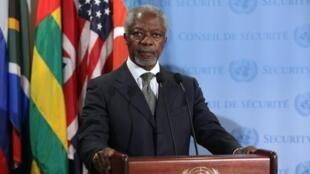 O emissário internacional da ONU e da Liga Árabe para a Síria, Kofi Annan, se disse preocupado com a intensificação dos combates no país.