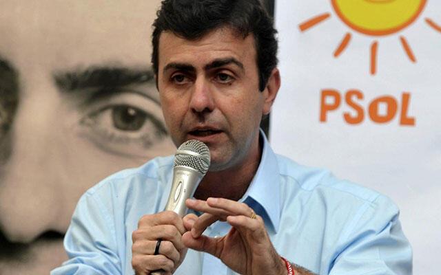 O candidato do Psol à prefeitura do Rio, Marcelo Freixo