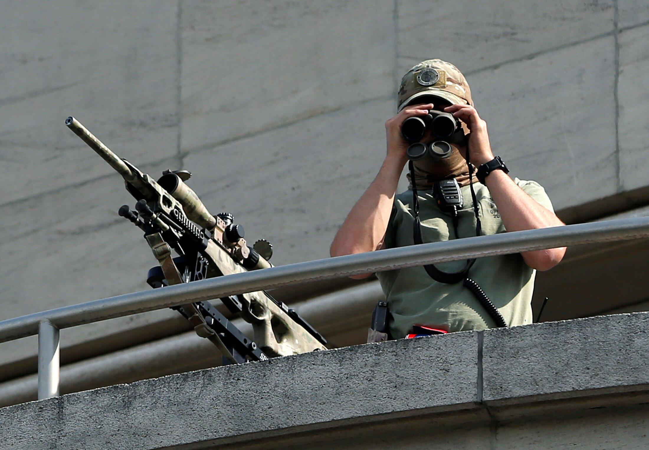 Lực lượng đặc nhiệm Bỉ được triển khai ở thủ đô Bruxelles ngày 21/07/2016.