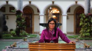 La presidenta de la Asamblea Nacional Constituyente, Delcy Rodríguez.