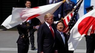 美國總統特朗與日本德仁天皇,2019年5月27號