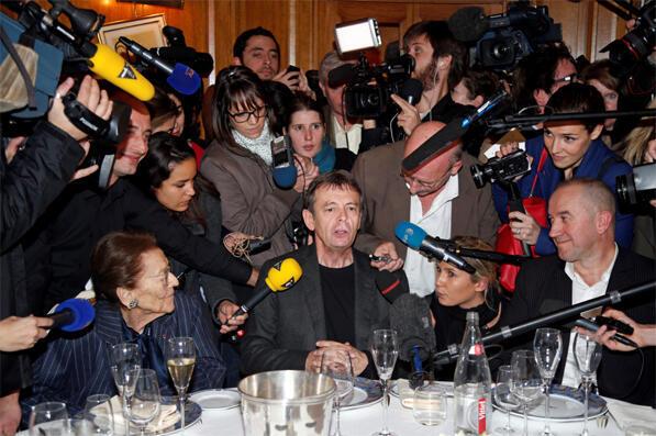 پیر لومتر در مراسم اهدای گنکور ٢٠١٣ در هتل دروان در پاریس.