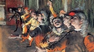 The Chorus (1876) by Edgar Degas, oil on canvas