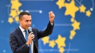 Le chef de file du Mouvement 5 étoiles, Luigi Di Maio.