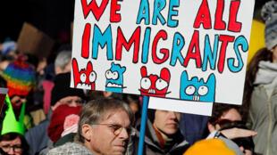 Акция против миграционного указа Дональда Трампа в Филадельфии, 4 февраля 2017 г.