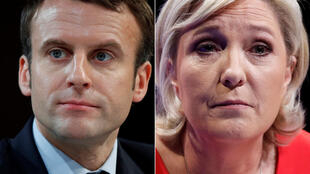 Emmanuel Macron y Marine Le Pen, los finalistas de la primera vuelta de las elecciones presidenciales.