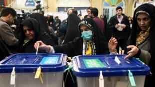 Bureau de vote à Téhéran: la fermeture des bureaux de vote a été retardée pour permettre à un maximum d'électeurs de voter, la participation étant l'un des enjeux de ce scrutin, le 21 février 2020.