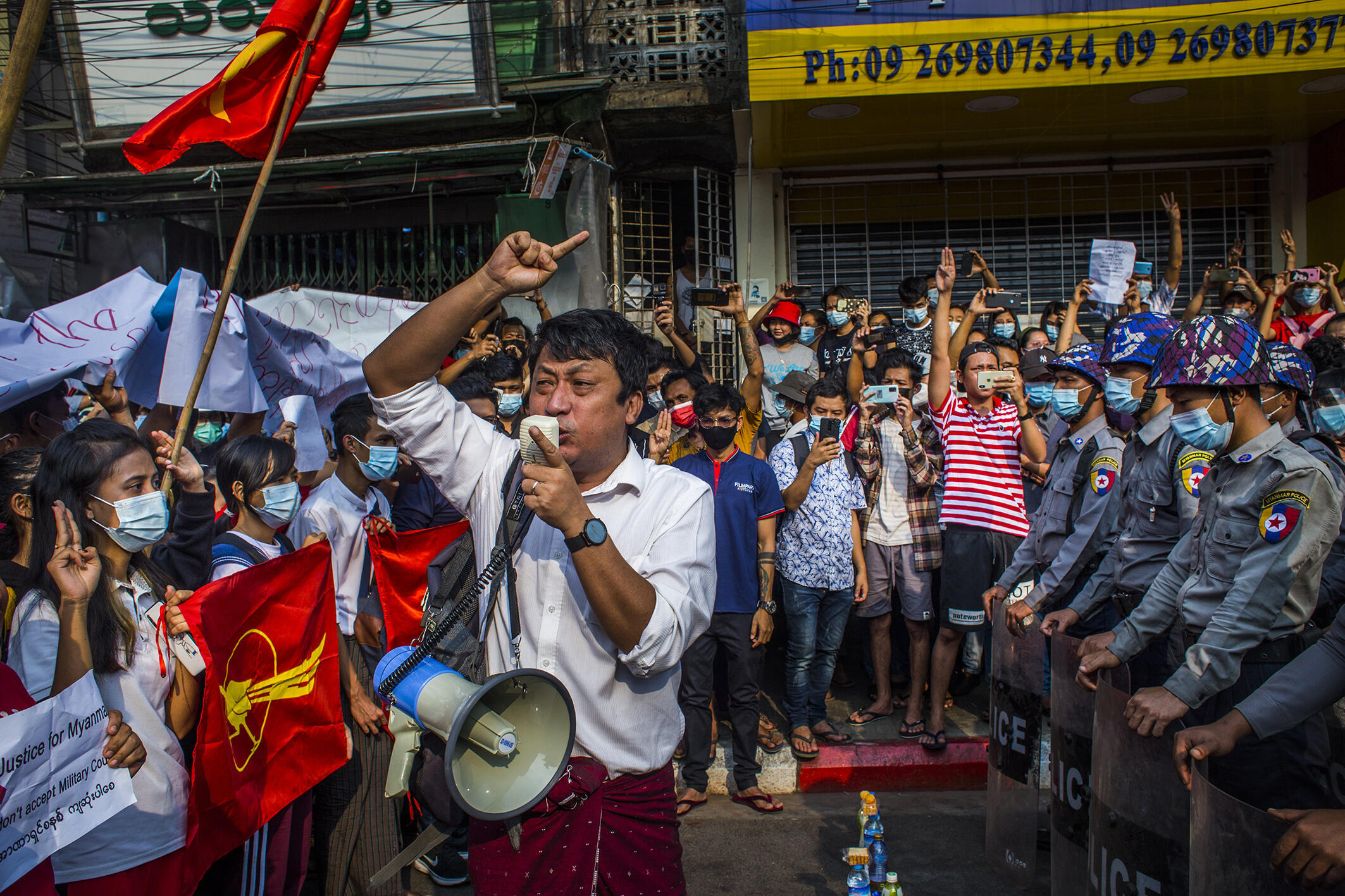 Anonymous-Myanmar_protestors support of the National League for Democracy