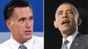 Mitt Romney (trái) và Barack Obama