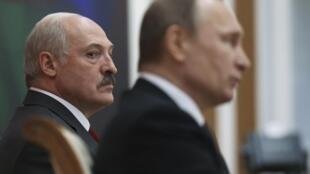 Александр Лукашенко и Владимир Путин, 25 февраля 2016.