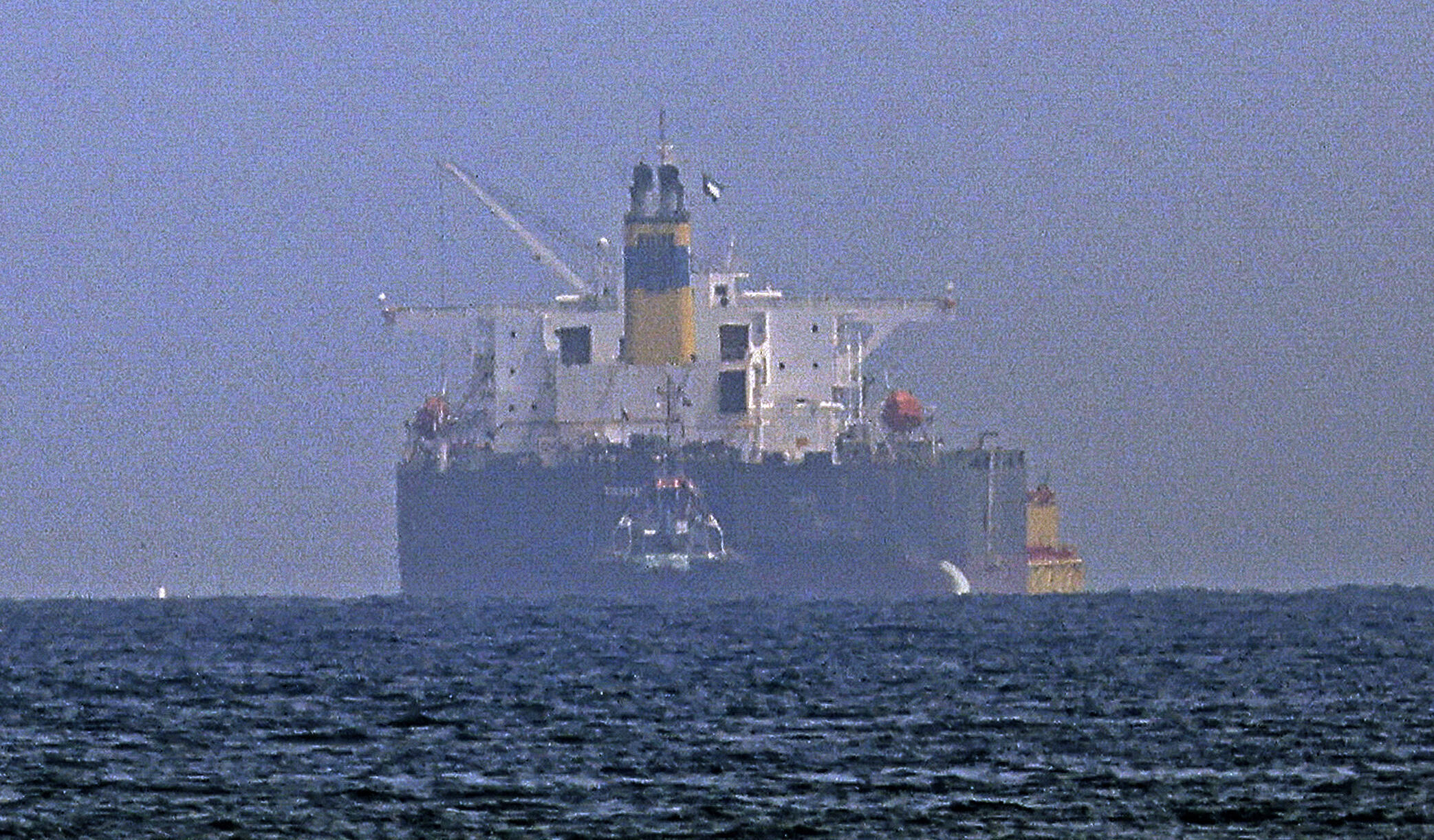 Israeli-linked tanker MT Mercer Street, which was attacked off Oman last week with the loss of two crew, reaches anchorage off the east coast of the United Arab Emirates
