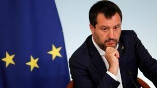 Conférence de presse du ministre de l'Intérieur Matteo Salvini, le 11 juin 2019.