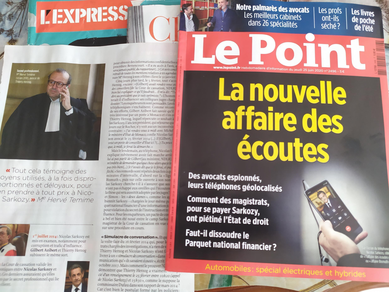 Imprensa Semanal destaca escutas telefónicas em França
