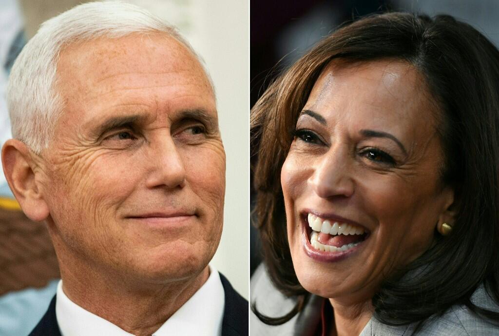 Le vice-président Mike Pence et la colistière de Joe Biden, Kamala Harris, se sont affrontés lors d'un débat, pour la première fois, le 7 octobre 2020.