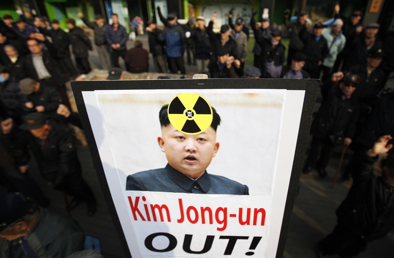Biểu tình phản đối Bình Nhưỡng dự định thử hạt nhân, Seoul, 31/01/2013